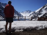 Reppin' that Arc'teryx overlooking Laguna del Inca